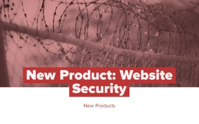 New Product: Website Security
